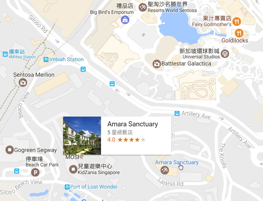 Amara Sanctuary Resort map