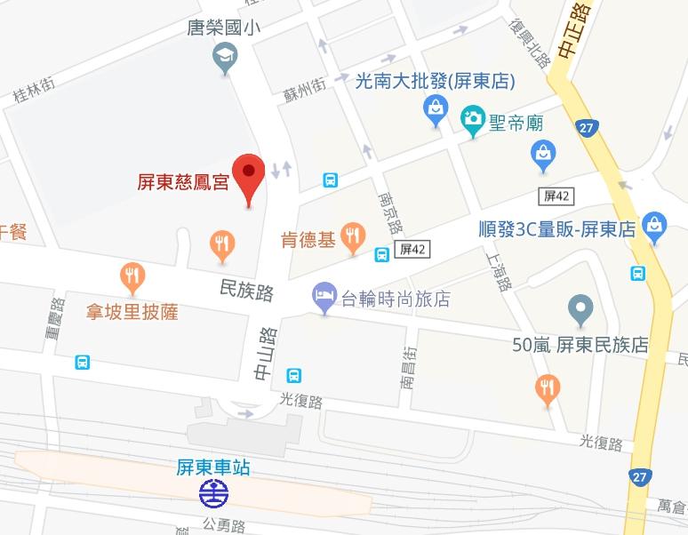慈鳳宮map