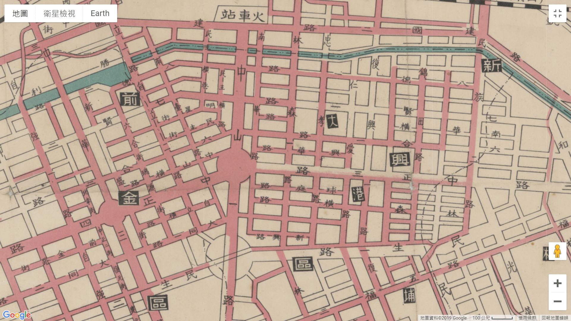 1958高雄市街圖